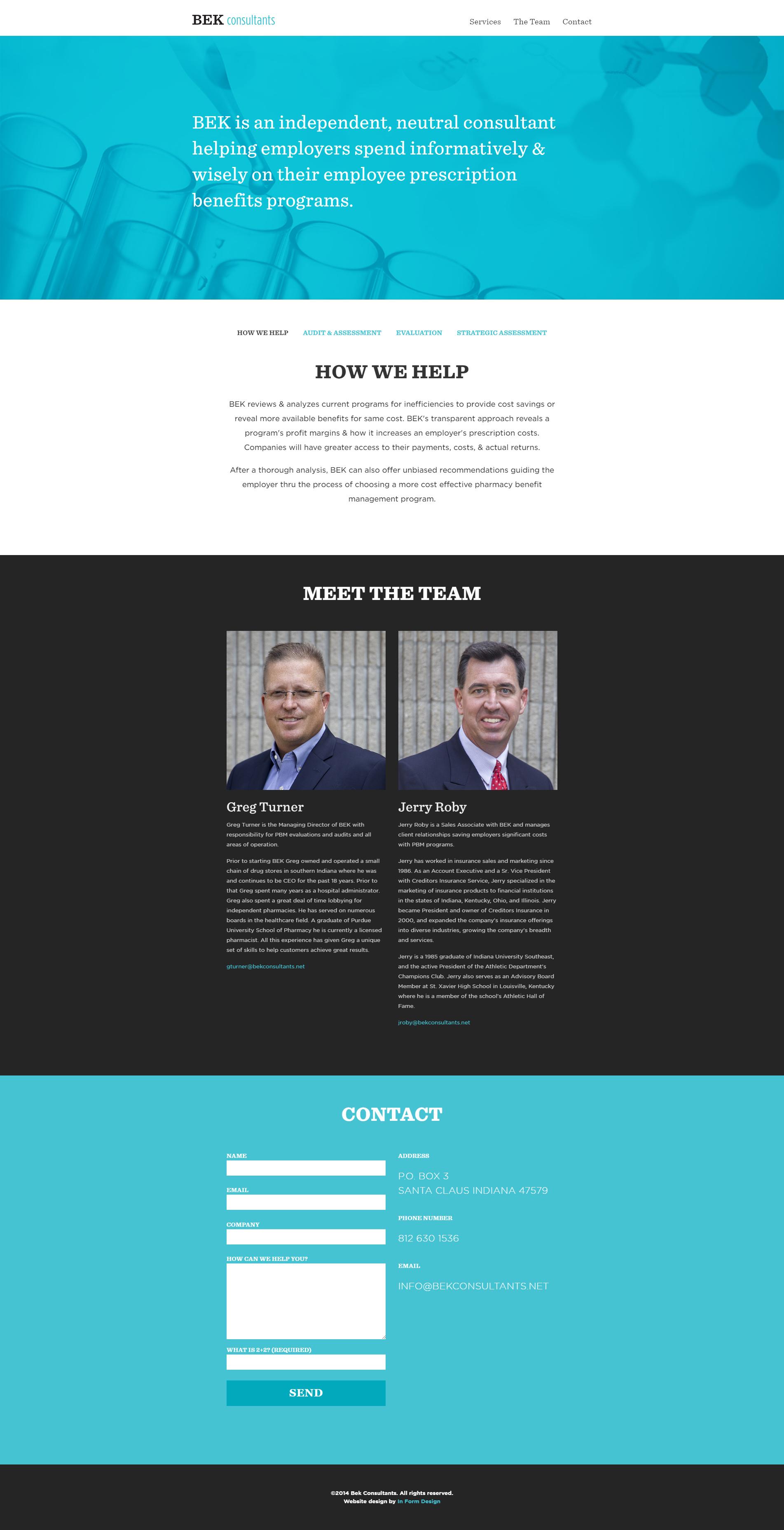Bek Consultants Homepage