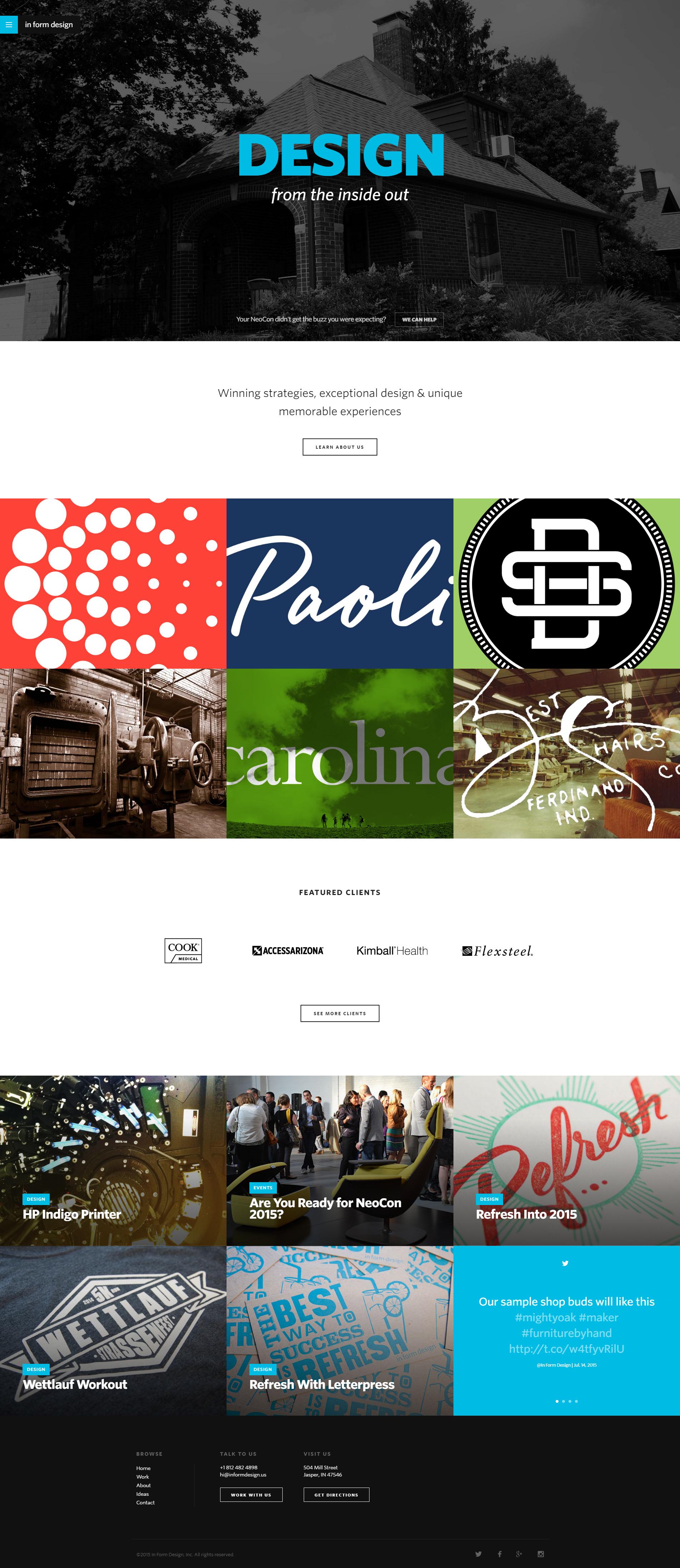 In Form Design Desktop Homepage