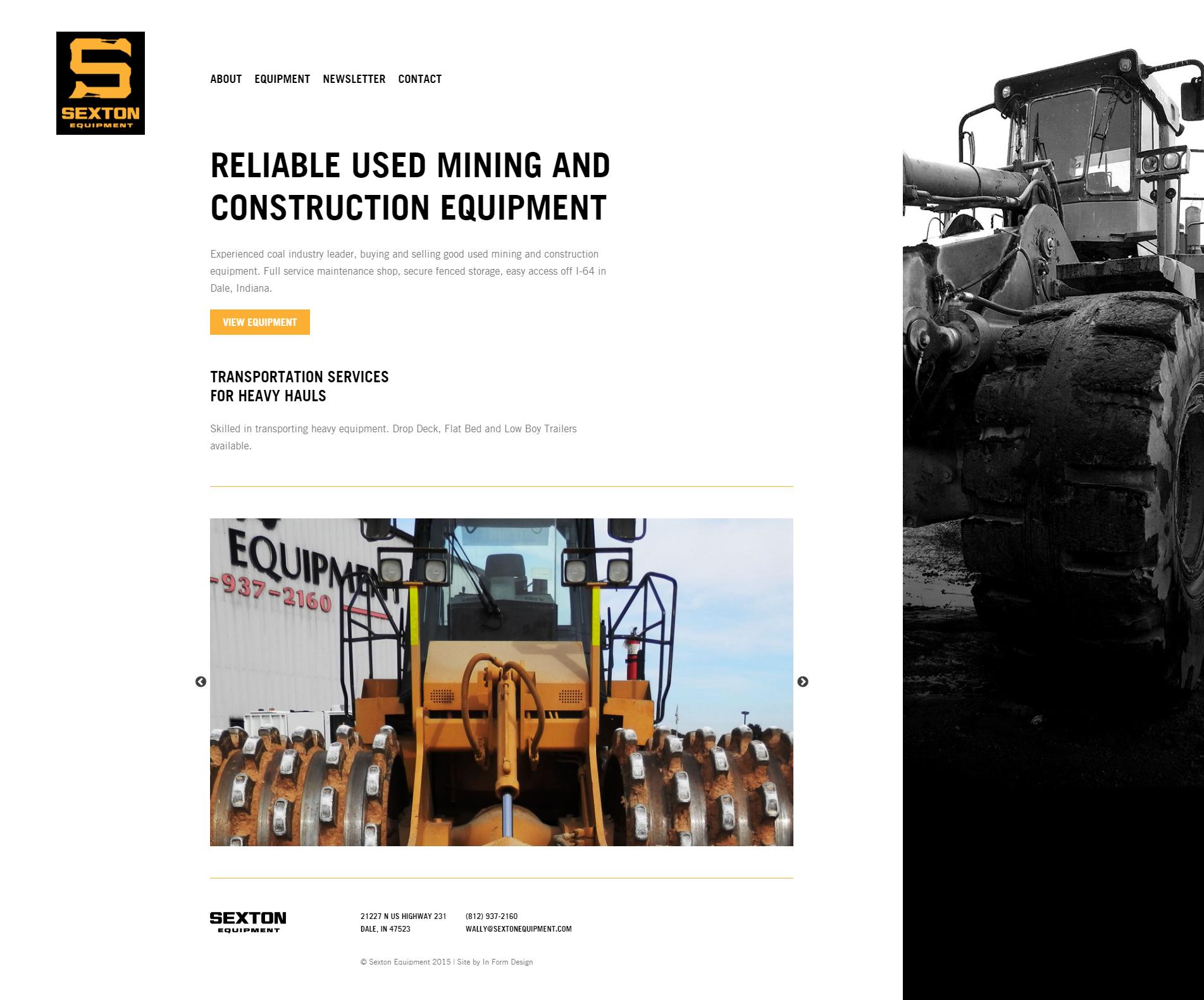 Sexton Equipment Homepage